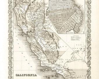1856 Map of California
