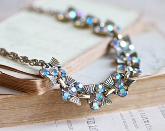 Vintage Rhinestones Necklace - Sparkle and Dazzle -