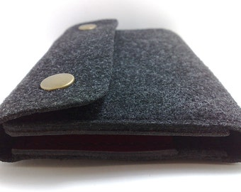 Wallet for Motorola droid turbo  , leather felt with pockets for cards  ID cards cash, business card/ free initials