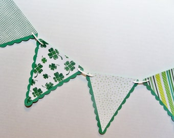 Irish Wedding Garland Banner St Patricks Decor Shamrocks pennant bunting photo prop