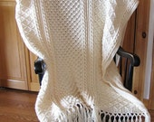 Reserved for cbrendle 1-  Fisherman crochet afghan 46x60