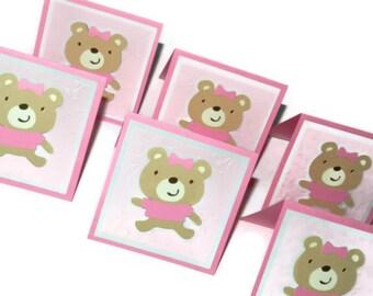 Baby bear cards - set of six 6 (MC2)