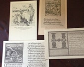Lot of antique vintage post cards 1930s cards  Harvard college library collection altered art ephemera etc