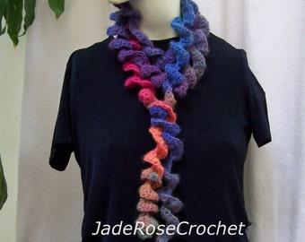Crochet Scarf Pattern, Spiral Crochet Pattern, Lariat Crochet Pattern,  Boa Skinny Scarf Pattern PDF223