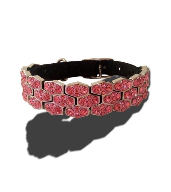 Pink Princess Designer LUX Custom Dog Collar, Collar for Dogs, Large Dog Custom Collars