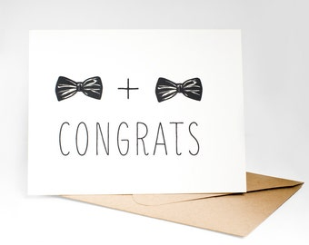 Same sex wedding card, gay marriage hand made, equal marriage greeting card