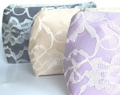 Bridesmaid Gifts: Makeup Bags Bulk Order Prices, Clutch, Bridal Shower Favor, Wedding Favor, Stocking Stuffers, Lace Clutch