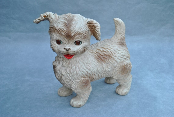 Vintage Edward Mobley Rubber Dog Squeak Toy