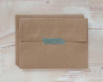 Brown Kraft Envelopes - A7 - Square Flap - 100 pc