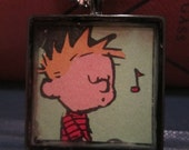Calvin and Hobbes: Whistling Calvin pendant