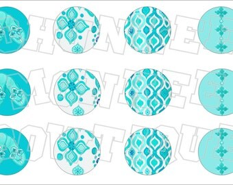 Made to Match Gymboree M2MG Aqua Summer bottlecap image sheet