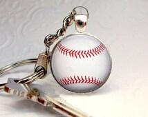 Baseball Keychain - Baseball Gifts for Men - Baseball Love - Gift for Men - Etsy Finds - Birthday Gift - Handmade Keychains - Key Chains