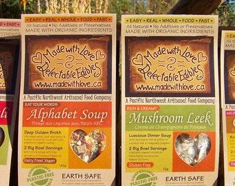 Artisan's Couplet of Magic Meals - Eco Gift Gardening Gift Farmer's Market - DIY Gift Set - Magic Meal Soup Mix Kit - Organic Food Soup Mix