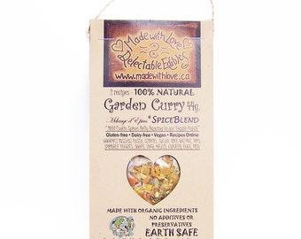 2 oz Garden Curry Eco Artisan Gourmet Spice Blend  - Food Organic - Herb Spice - Edible Gift Food Gift - Pasta Sauce Mix - Dressing Dip Mix