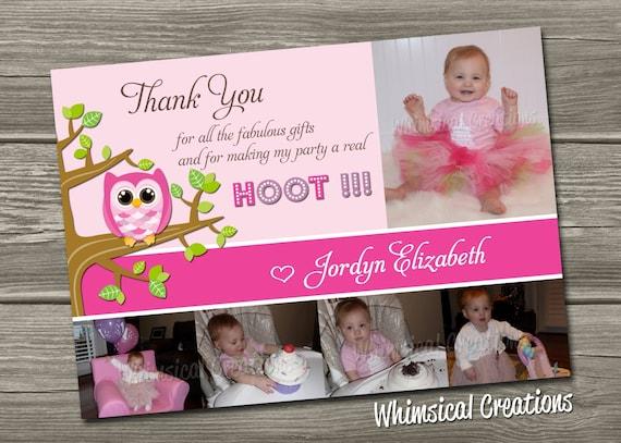 Owl Thank You Card (Digital File) - I Design, You Print