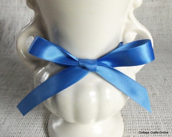"""CLEARANCE! Satin Ribbon, 5/8"""" wide, Double Face Blue - ONE HUNDRED YaRds - Offray Double Sided Satin No. 3 """"True Blue #373"""" Sewing Trim"""