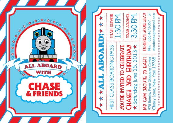 Thomas Birthday Invitation is perfect invitation template