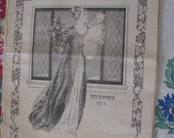 The American Woman Magazine Dec 1914 fashion articles