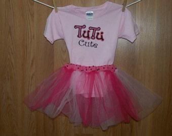 TuTu Cute Tee shirt with matching TuTu