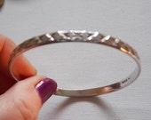Vintage Silver Hallmarked Kisses Bangle Bracelet
