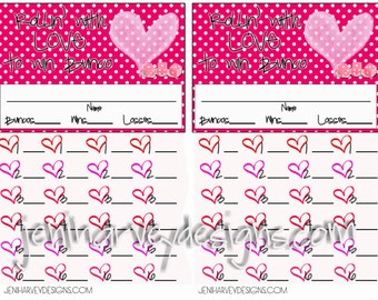 Valentine's Bunco Score Sheet