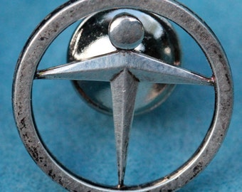 Vintage Sterling Tiffany Manpower Tie Clip Lapel Pin