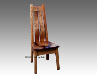 Chair, split chair, mesquite and cherry