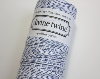 Bakers Twine - Blueberry Divine Twine - Full Spool - 240 yards Blue and White