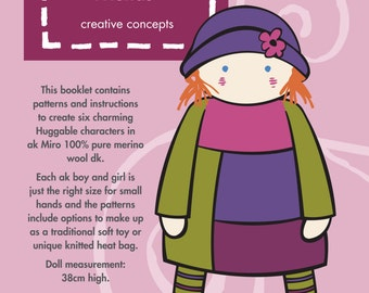 Huggable Friends 1 - knitted doll book