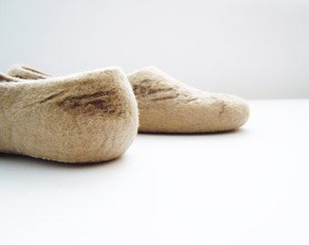 Felted wool slippers, house shoes