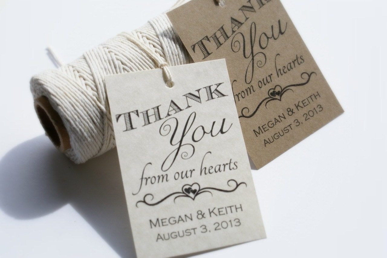 Diy Wedding Thank You Gift Ideas : Printable Wedding Favor Tags Custom DIY Thank by EventPrintables