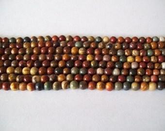 Red Creek Jasper 4mm Stone Beads- 1/2 strands