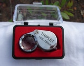 10 x 18 Triplet Jewelers Loupe with case to be used in jewelry making, computers, coins etc