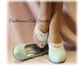 Lace socks heels peep socks wedding bridal shoes bridal ankle bridesmaids womens lace socks ENCHANTING LACE White Catherine Cole Studio FTL4