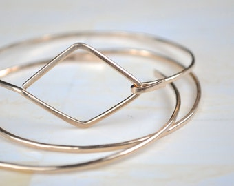 Bangle Bracelet Gold Bangle Simple Gold Bracelet Simple Gold Bangle Set Set of Gold Bangle Geometric Bangle Bracelet