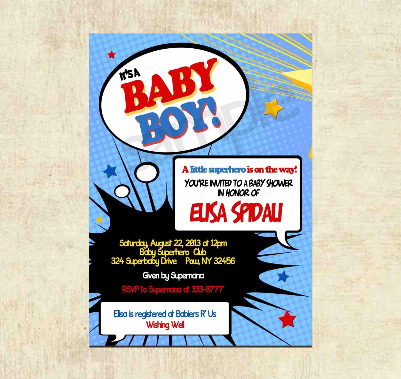 baby shower invitation superhero baby shower by theprintfairy