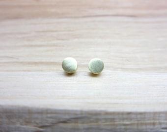 Minimalist Earrings Brass Studs