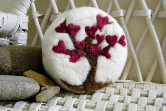 Love Tree Felted Soap by DancinSheep on Etsy