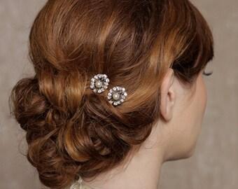 Crystal Hair Pin, Crystal Hair Accessories, Vintage Pearl Hairpiece, Bridal Hair PIn, Wedding Hair Accessories - Ready to Ship