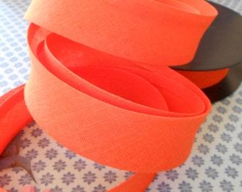 """Bias Tape Binding Orange 1""""width 10 Yards"""