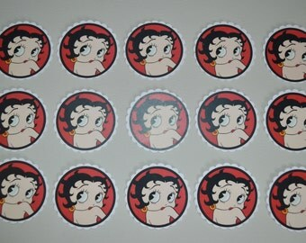 Instant Download BETTY BOOP Zebra Print Printable birthday cupcake toppers, favor tags, decor, envelope seals Ladies night 40th 30th 50th 70