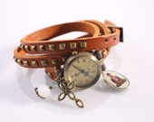 "Genuine Leather - Wristwatch, watch,""The faith in me"""
