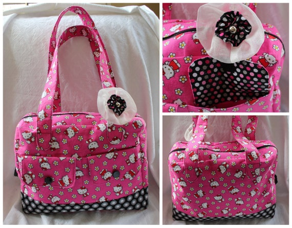 hello kitty carry all tote diaper bag purse overnight bag. Black Bedroom Furniture Sets. Home Design Ideas