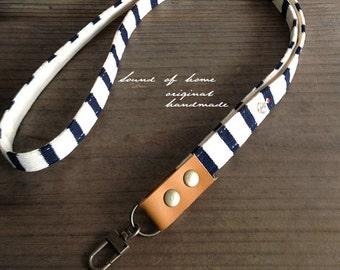 Nautical anchor unisex leather keychain key holder lanyard gift idea Japan zakka