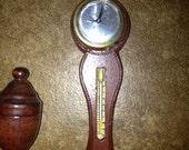 miniature Barometer, wooden Urn, macrame owl
