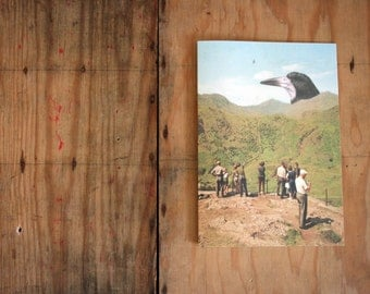 SALE - SEL - Tourists Mountains Giant Bird Eco Friendly Art Greeting Card