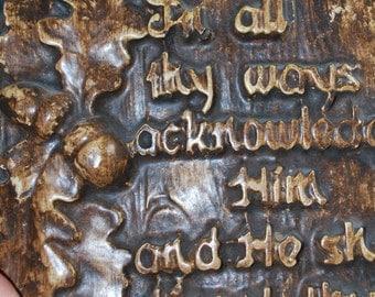 Decorative scriptural plaque