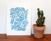 Block Printed Art Print