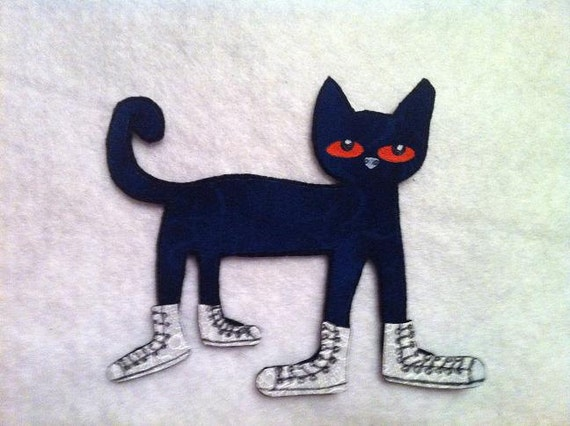 pete the cat i my white shoes flannel felt board set