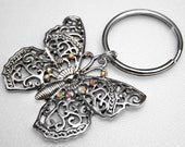 Key Ring - Butterfly, Sparkle